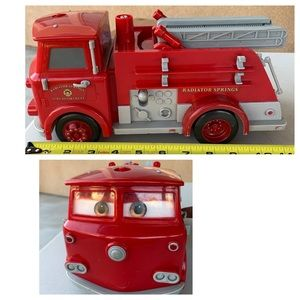 """Disney picture cars fire truck 12"""" long with sound"""